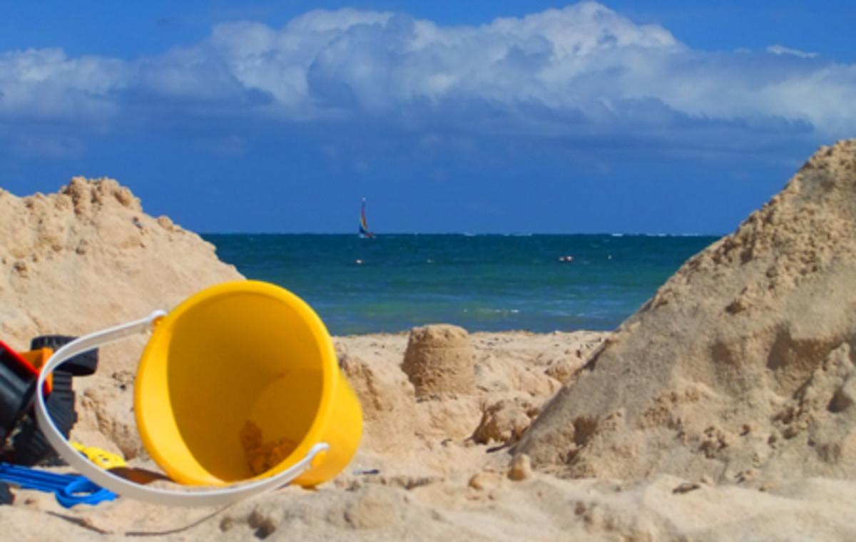 beach under construction