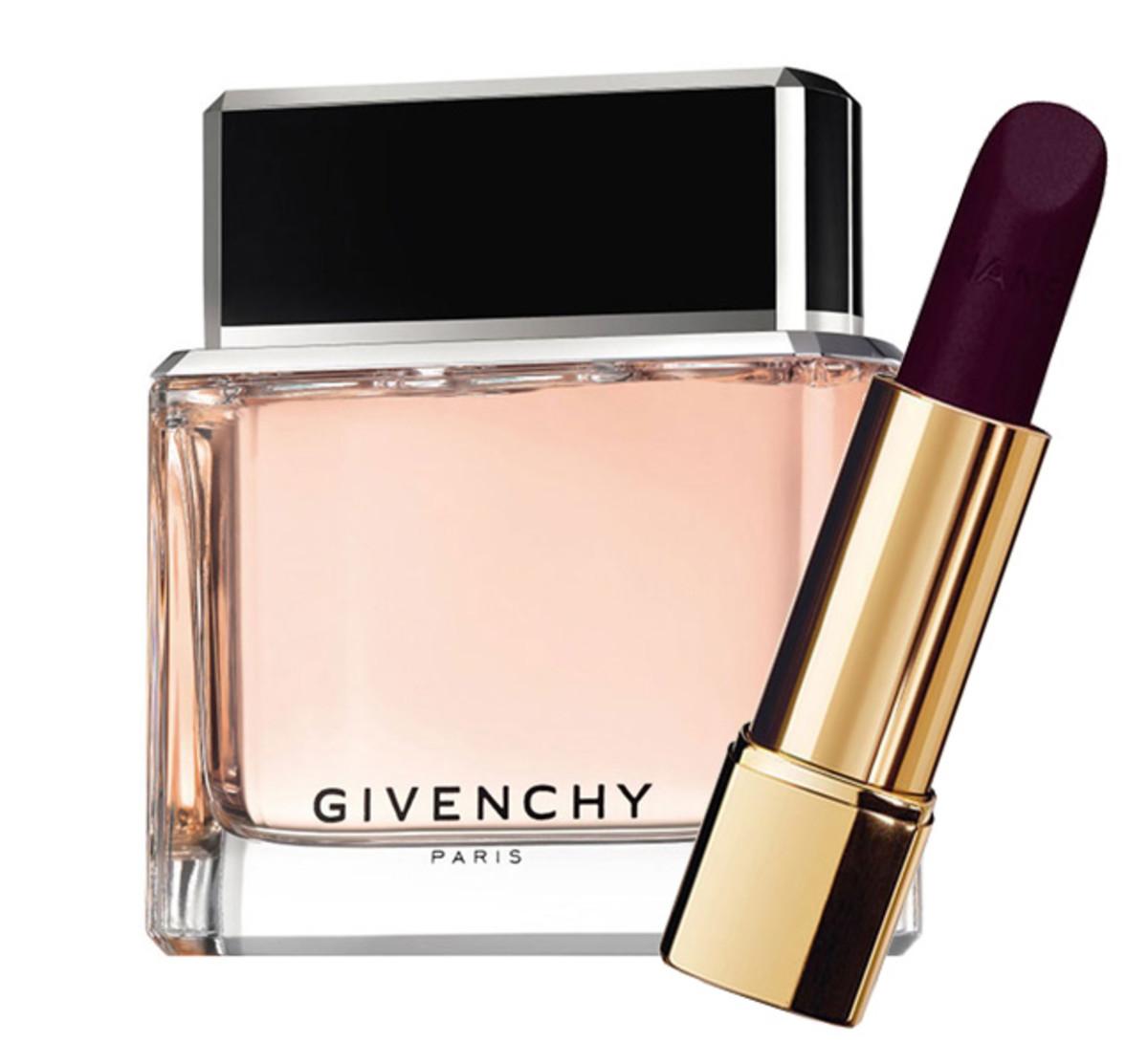 Givenchy Dahlia Noir + Chanel Rouge Allure Velvet Lipstick in La Provocante