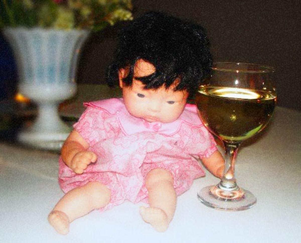 Asian baby doll at Lesa's wedding