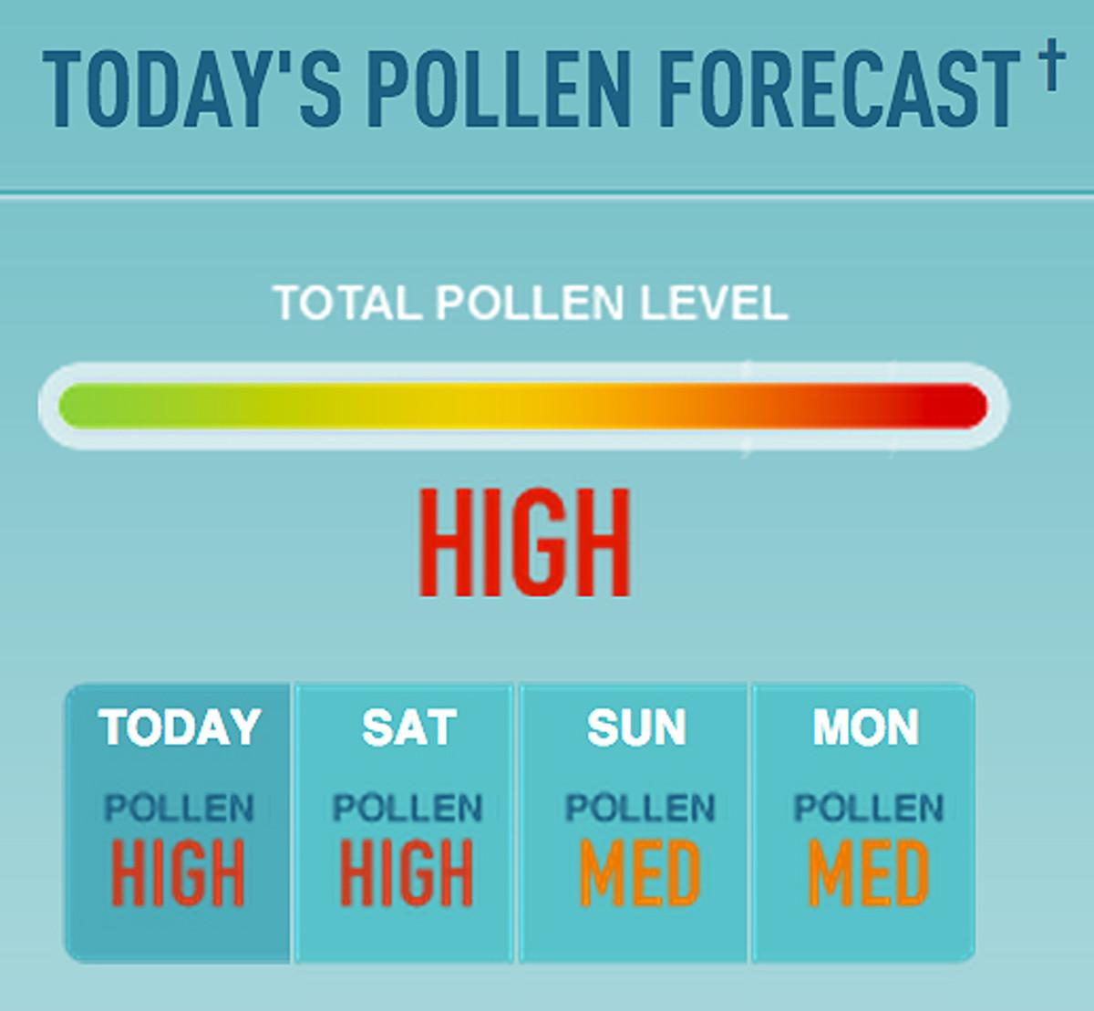 Reactine Liquid Gels_Reactine Pollen Forecast