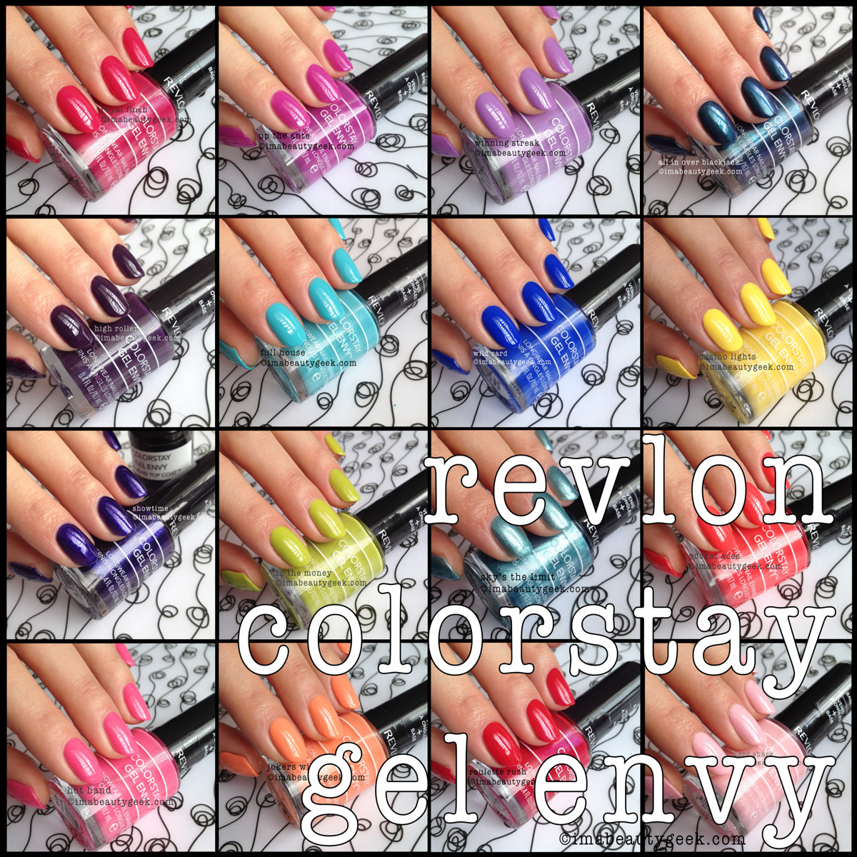 REVLON GEL ENVY LONGWEAR POLISH: REVIEW AND SWATCHFEST - Beautygeeks