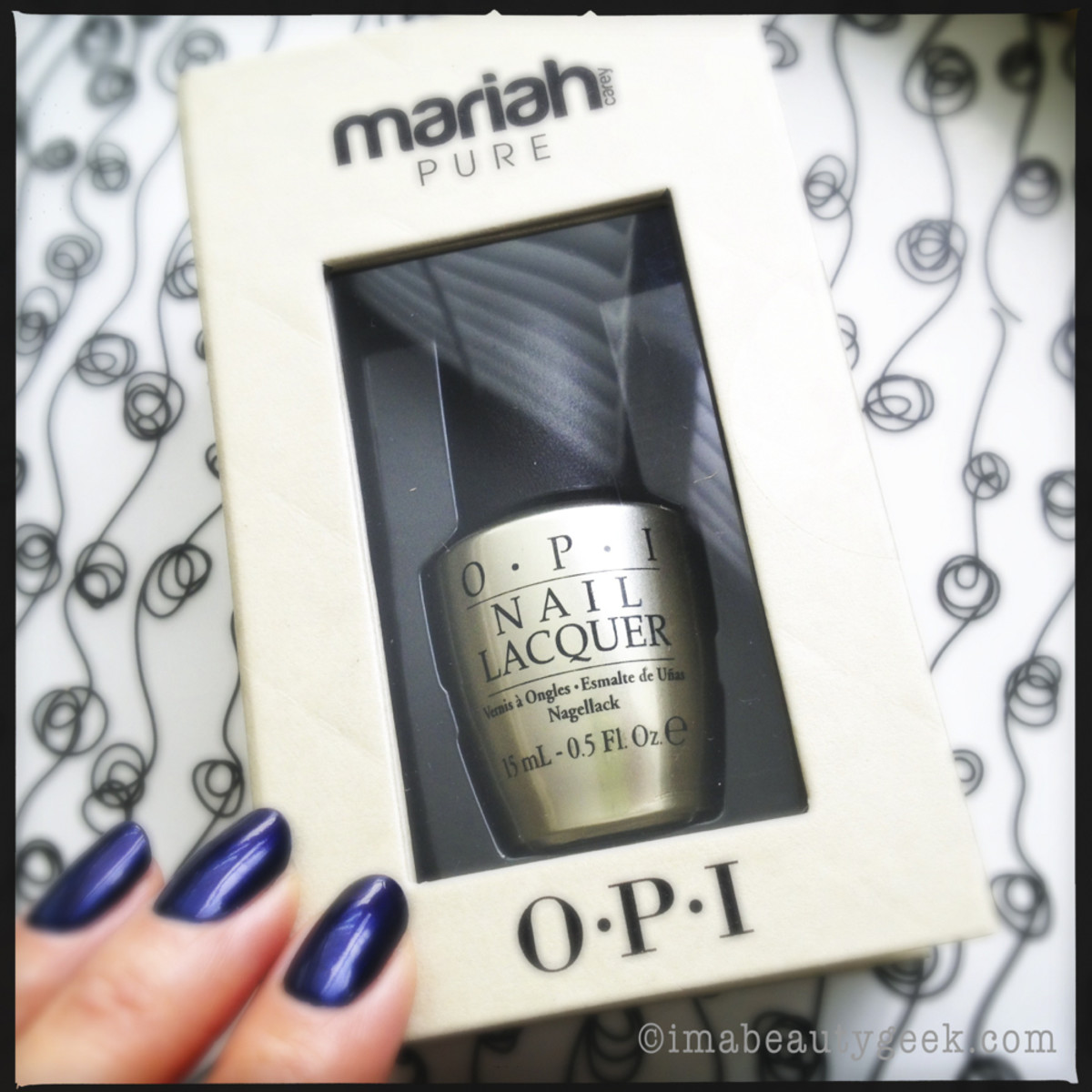 OPI Mariah Carey Pure 18k White Gold & Silver Leaf  Topcoat