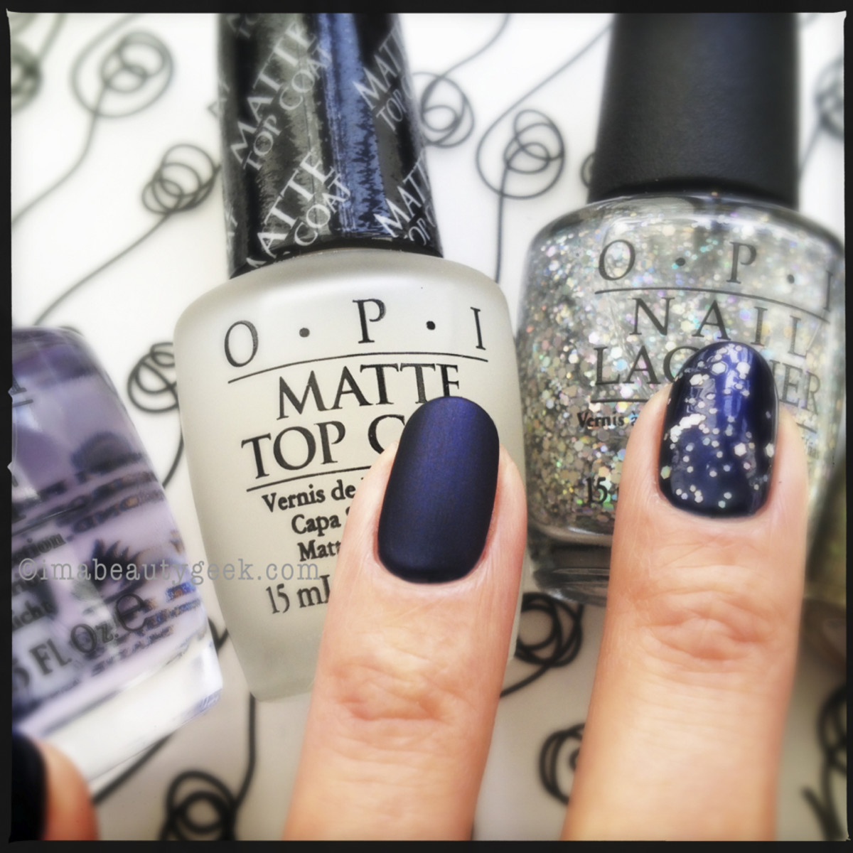OPI Russian Navy with Matte Top Coat