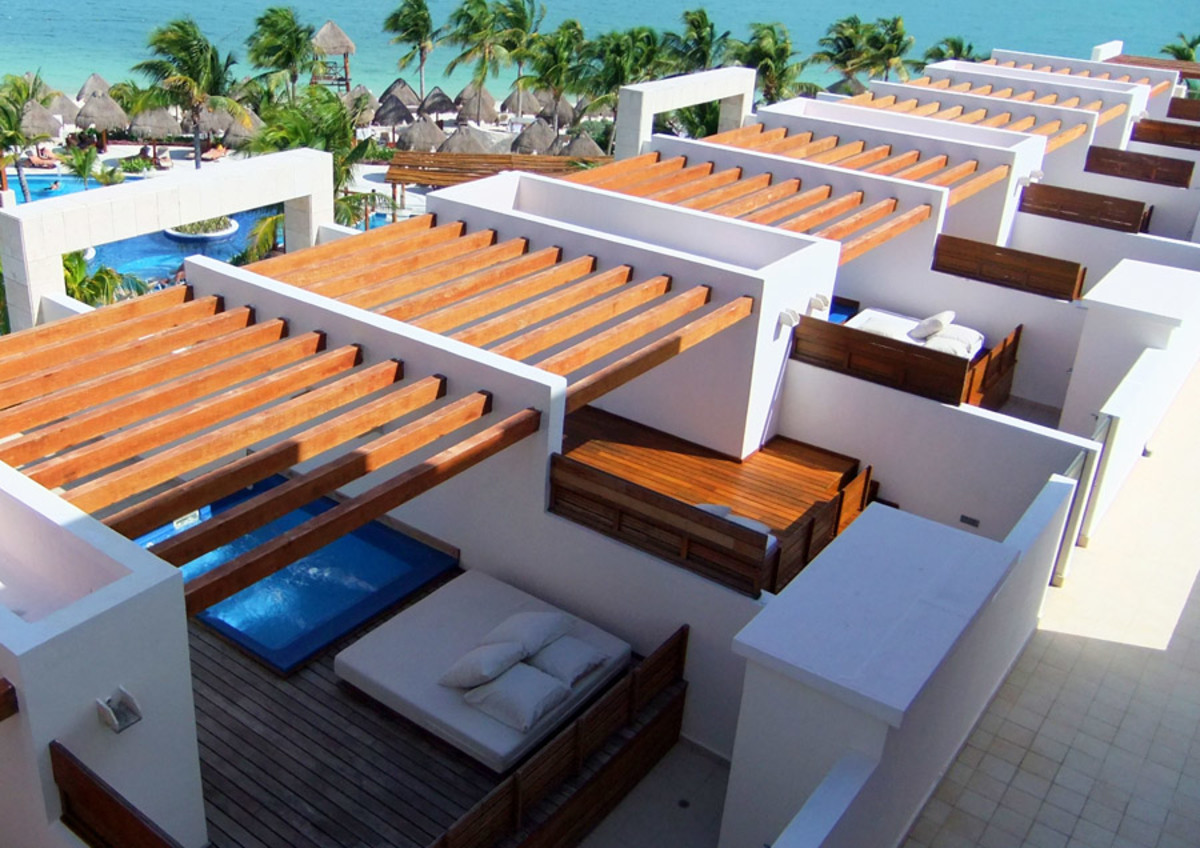 Excellence Playa Mujares_rooftop decks in a row