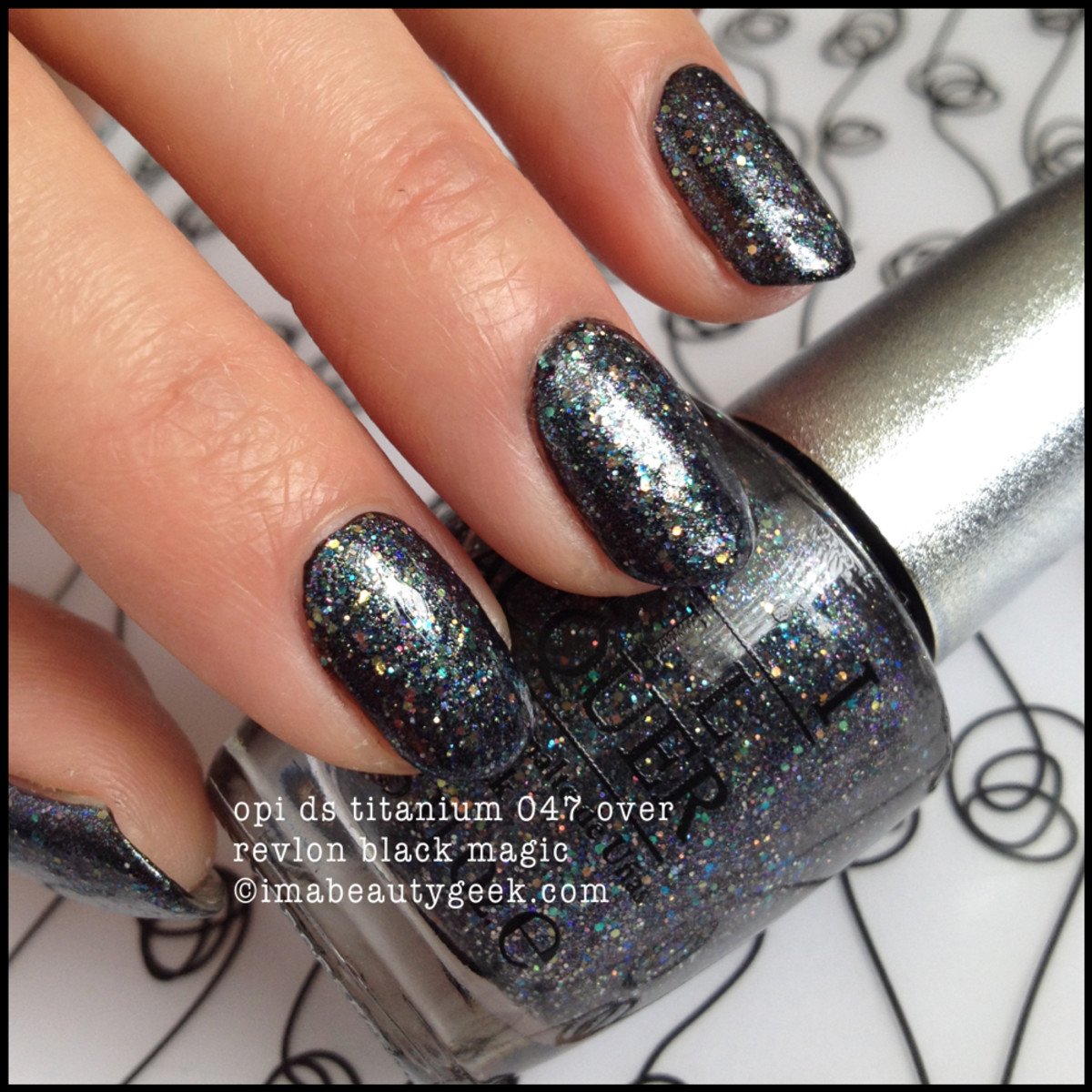 OPI DS Titanium 047 over Black Magic Fall 2014