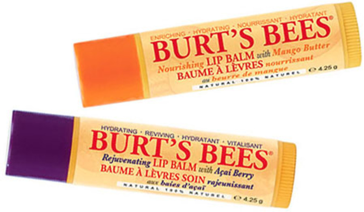 Burt's Bees no-wax Nourishing Lip Balms