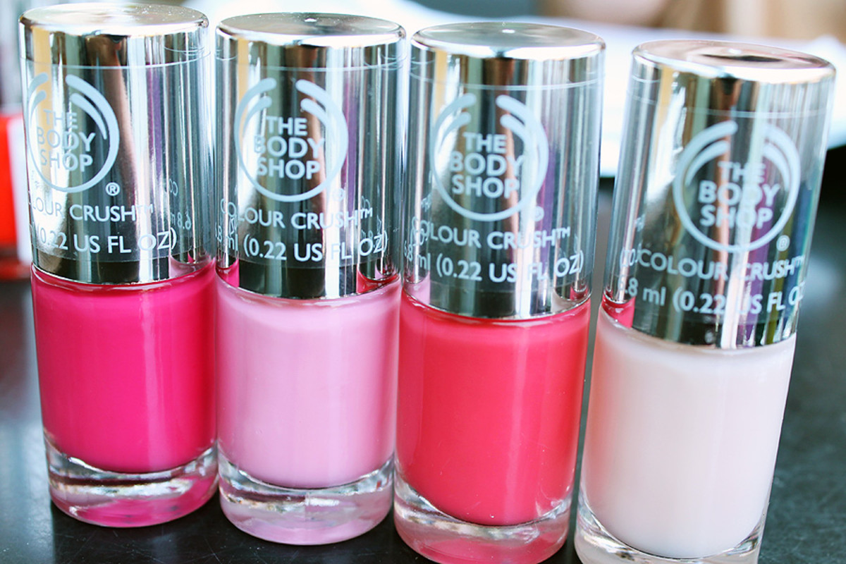 The Body Shop nail polish in Cupid Pink_Oh Petal_Rosy Cheeks_Pink Cream