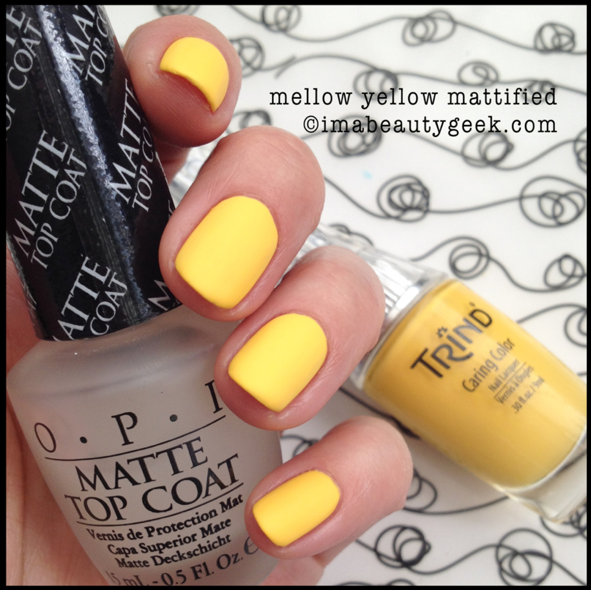 Trind polish Mellow Yellow Matte Top Coat