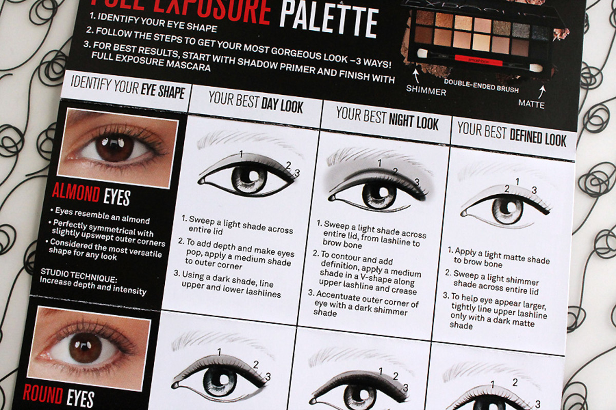 how to apply eye shadow for almond eyes_Smashbox Full Exposure Palette