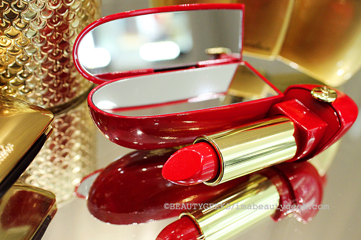 Guerlain holiday 2014: Rouge G de Guerlain Jewel Lipstick in Rouge Parade