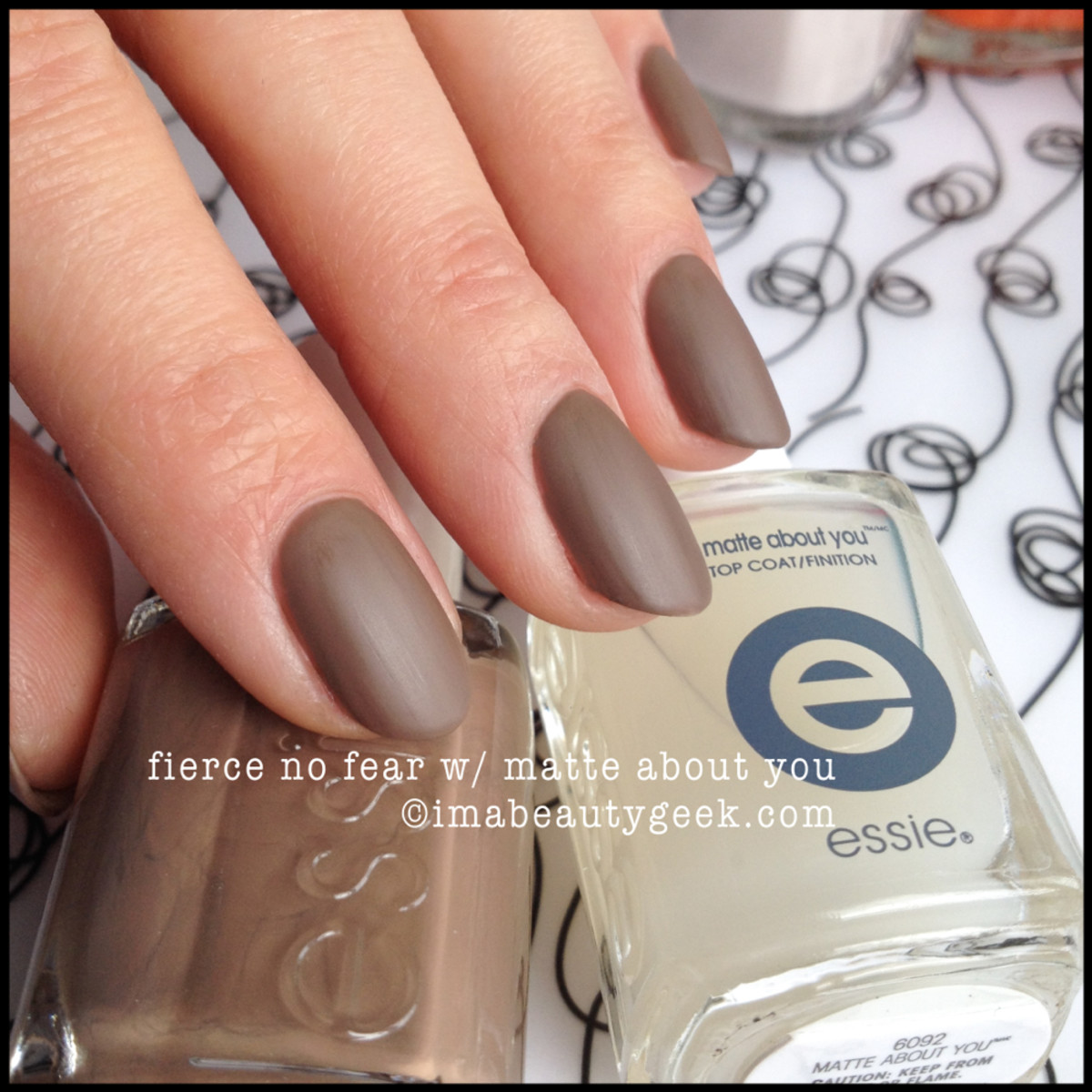 Essie Fierce No Fear Matte Top Coat
