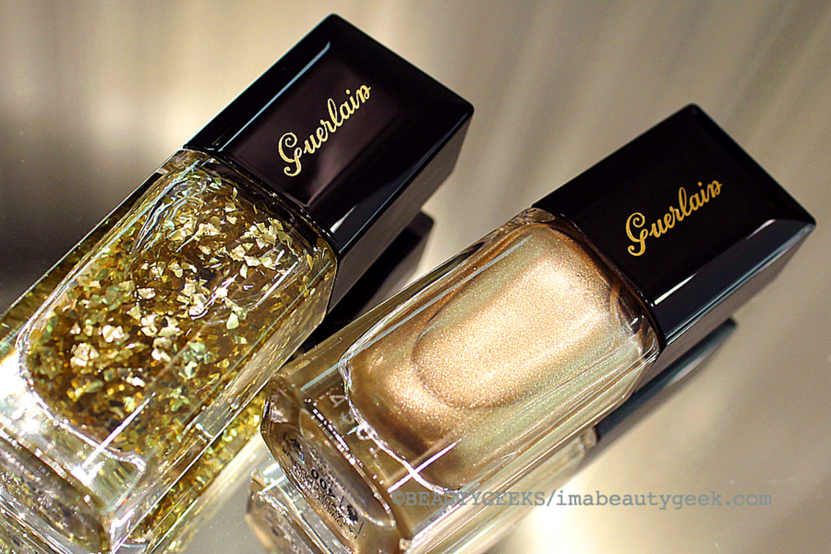 Guerlain Holiday 2014: L'Oiseau de Feu Gold Leaf Effect Top Coat and Coque d'Or
