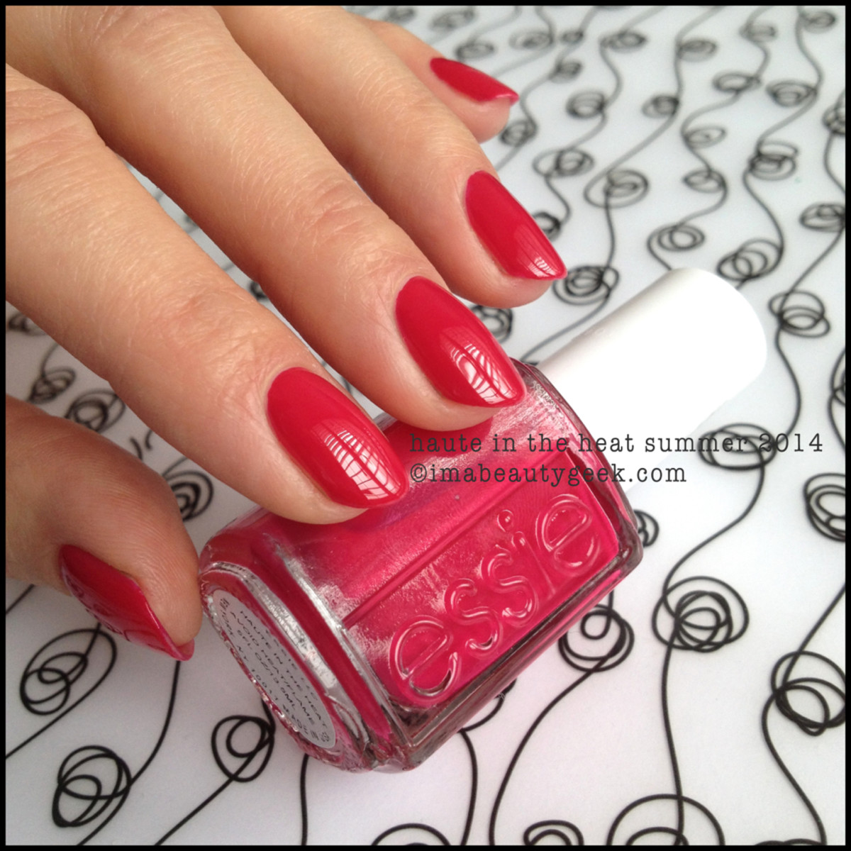 Essie Haute in the Heat Swatch Essie Summer 2014