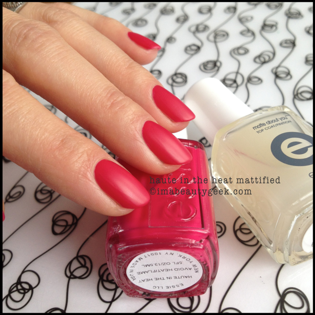 Essie Haute in the Heat matte top coat Essie summer 2014