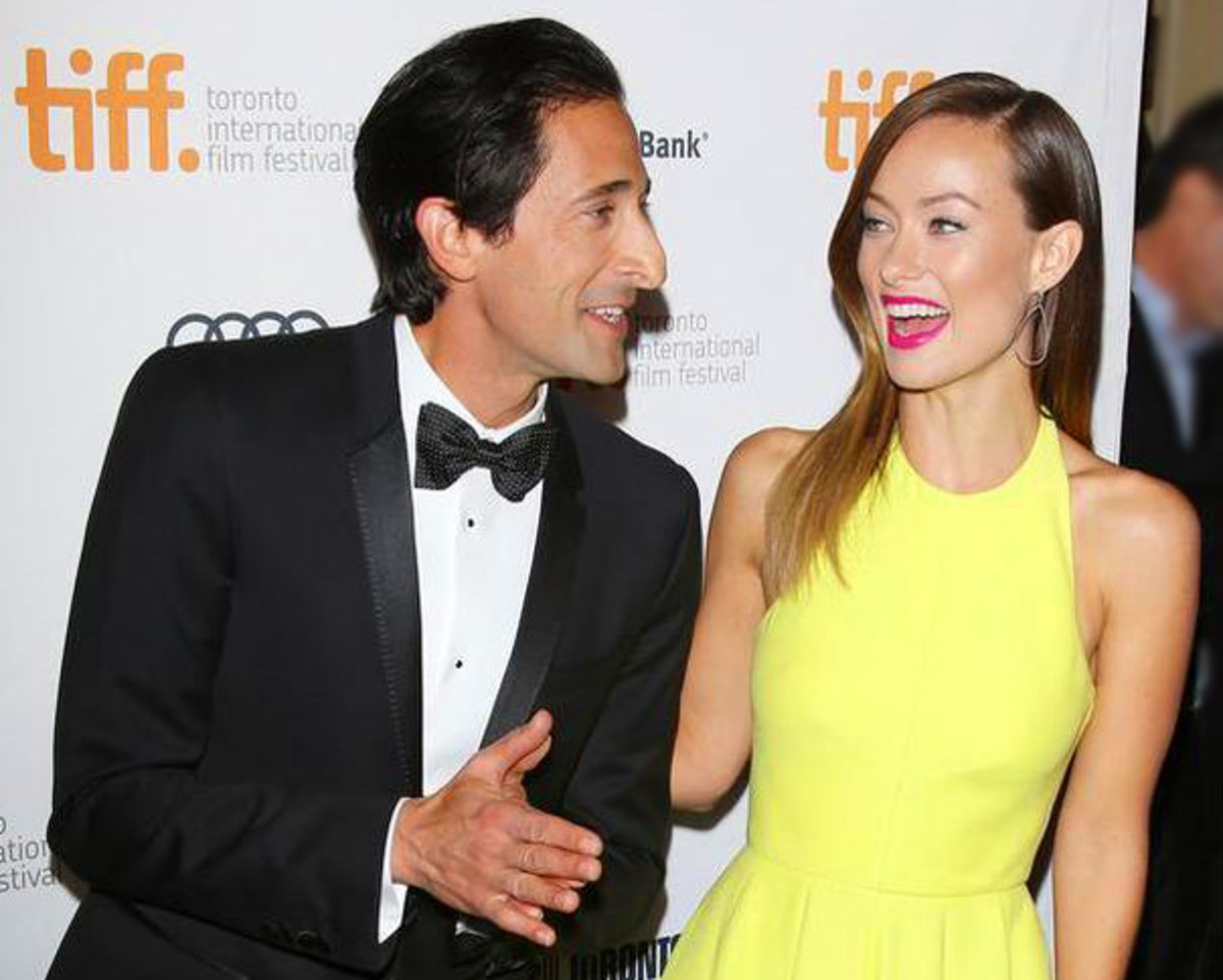 Adrien Brody TIFF 2013 with Olivia Wilde_Third Person red carpet