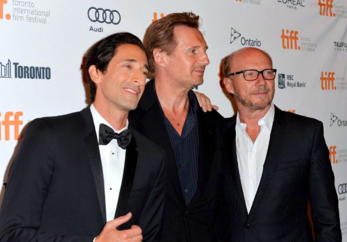 Adrien Brody TIFF 2013_with Liam Neeson and Paul Haggis_Third Person red carpet