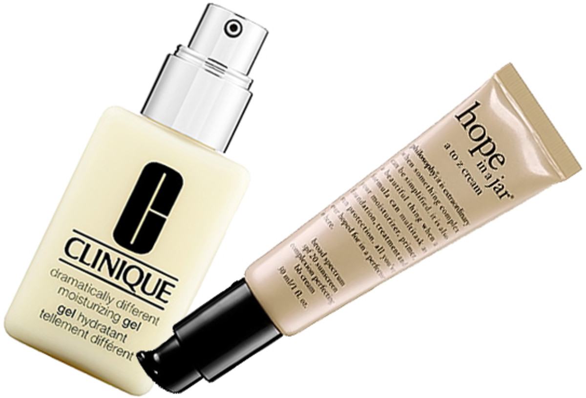 Clinique Dramatically Different Moisturizing Gel_Philosophy Hope in a Jar BB Cream