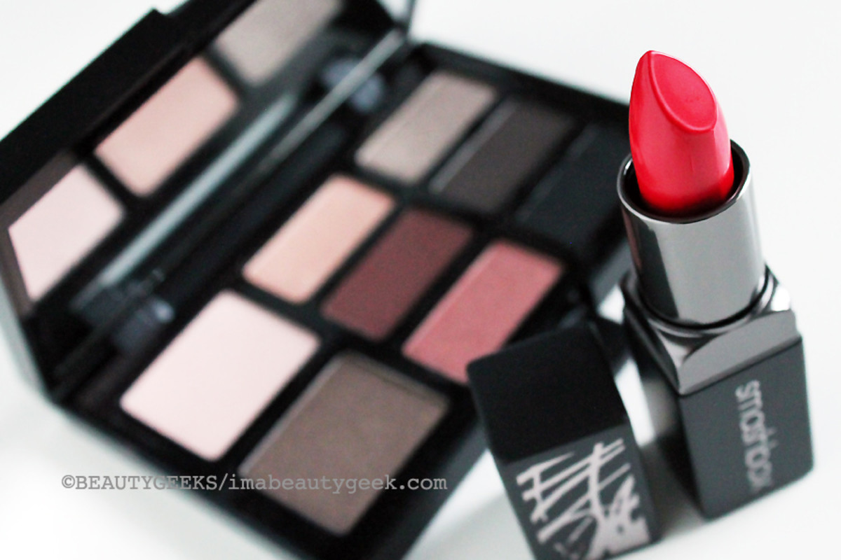 Smashbox Fall 2014_Smashbox Cherry Smoke palette and Bing Legendary lipstick