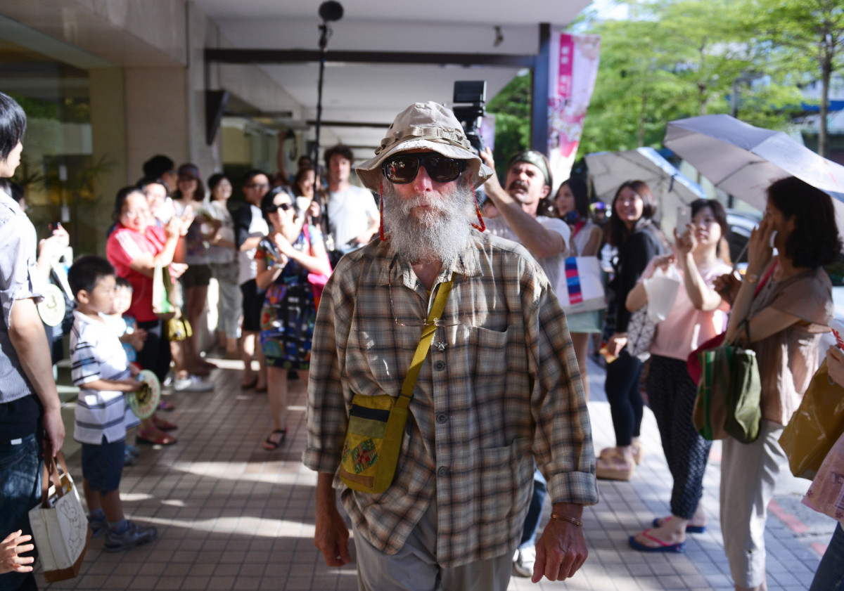 Burt Shavitz arrives in Taiwan
