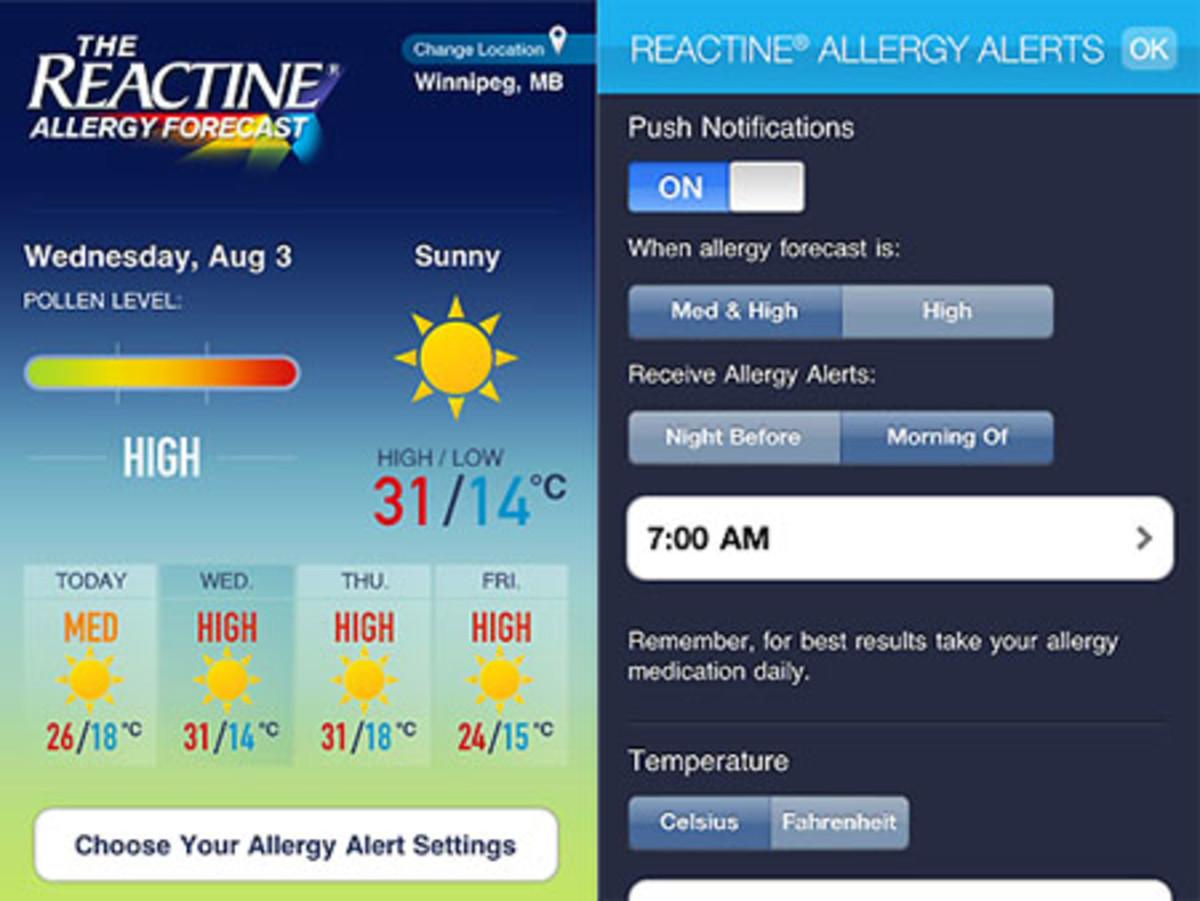 Reactine Allergy Forecast