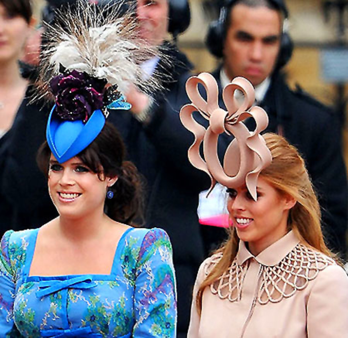 Princesses Eugenie and Beatrice_hats