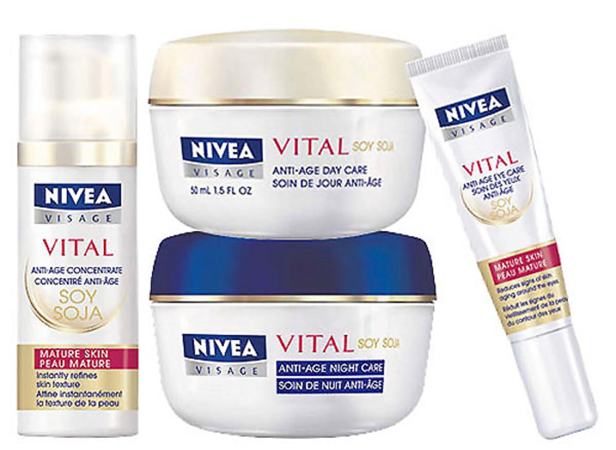 nivea visage vital skincare collection
