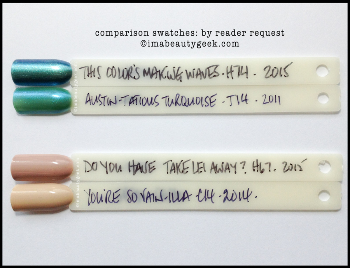 opi hawaii comparison swatches this colors making waves