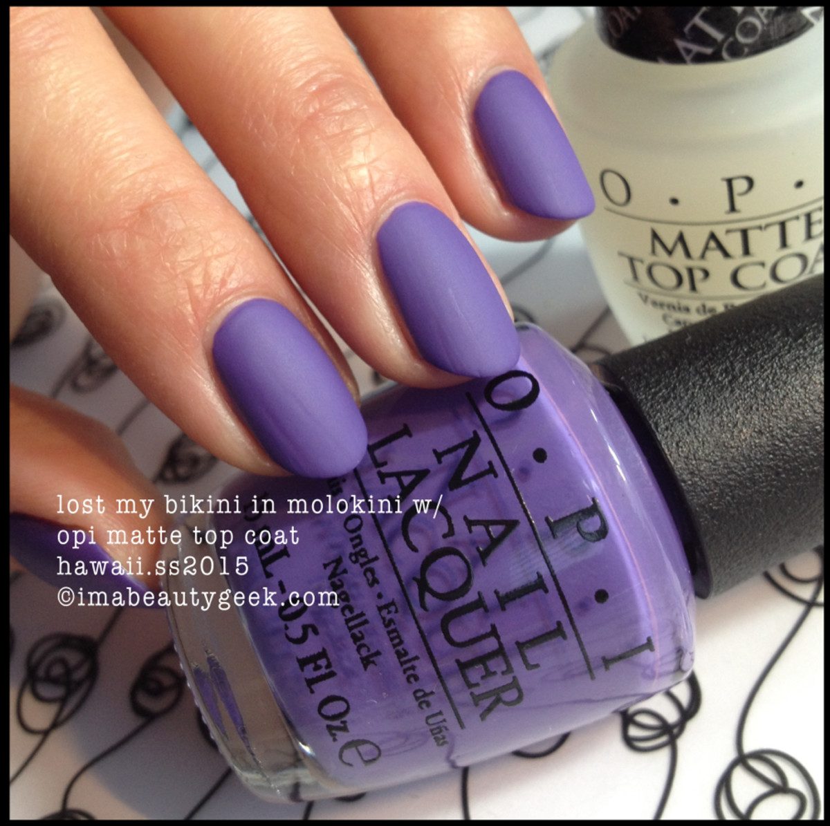 opi lost my bikini in molokini mattified
