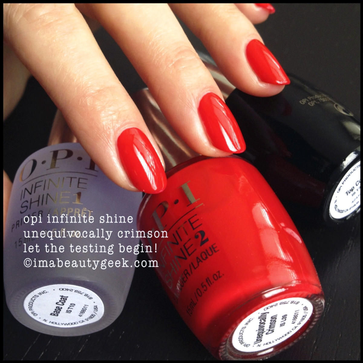 opi infinite shine: unequivocally crimson