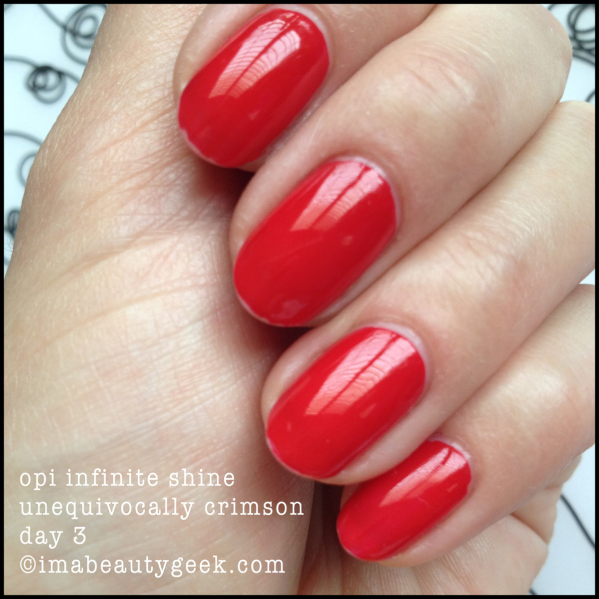 OPI Infinite Shine Review Unequivocally Crimson