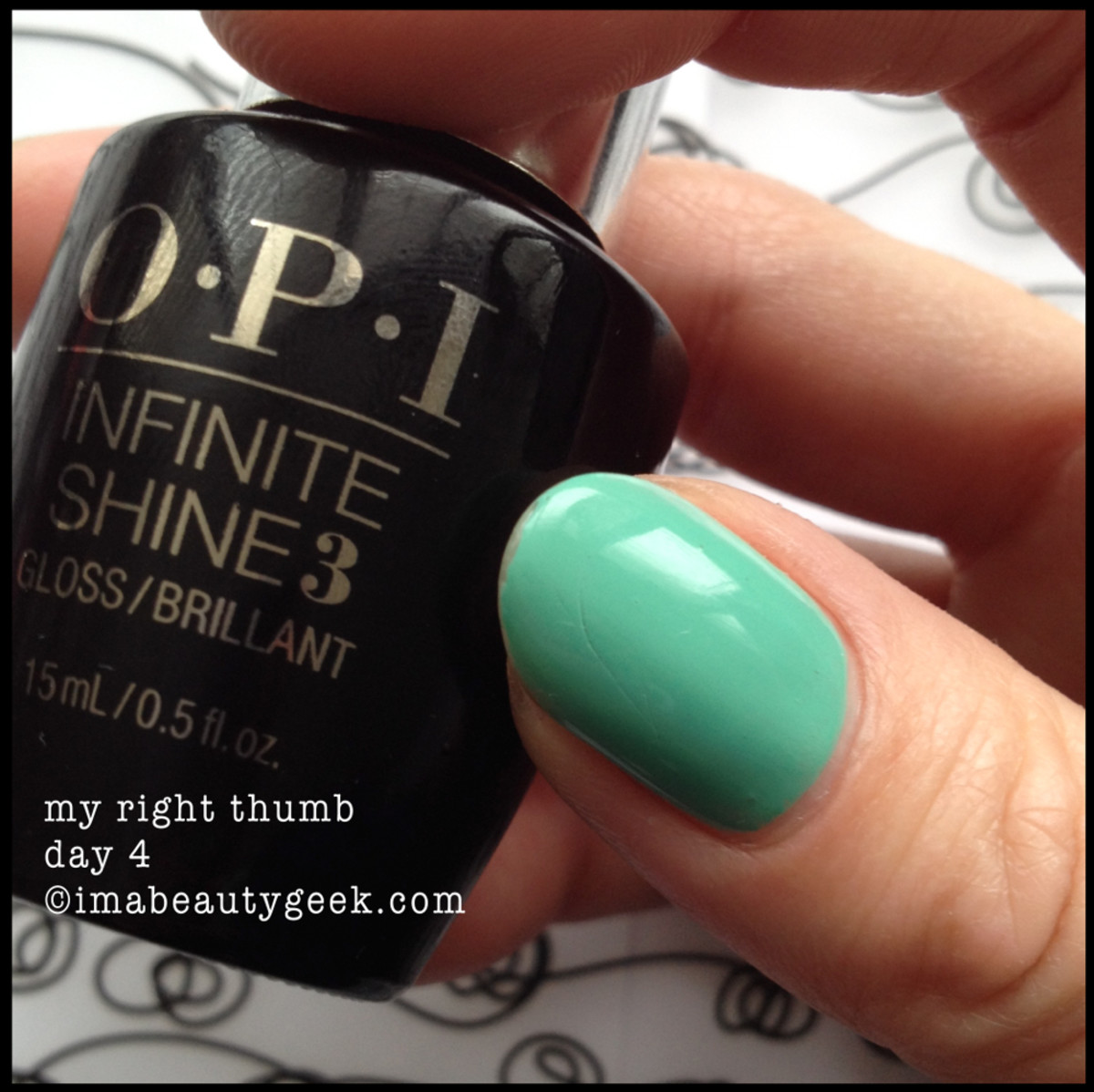 opi infinite shine review day 4