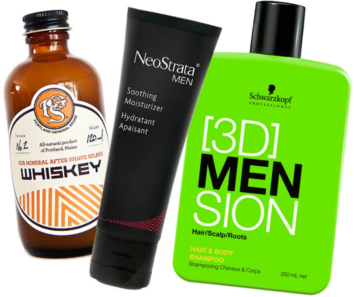 Father's Day_Whiskey After Shave Splash_Neostrata Men Soothing Moisturizer_3DMENsion Hair & Body Shampoo