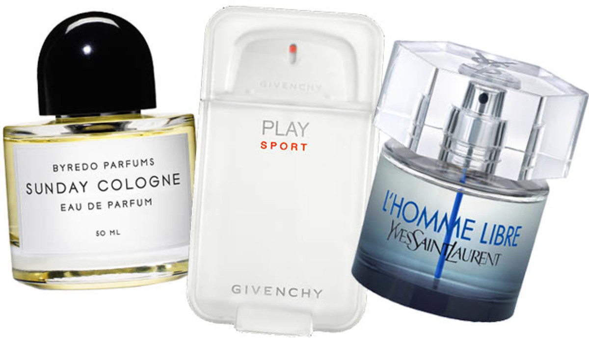 Father's Day_Byredo Sunday Cologne_Givenchy Play Sport_YSL L'Homme Libre