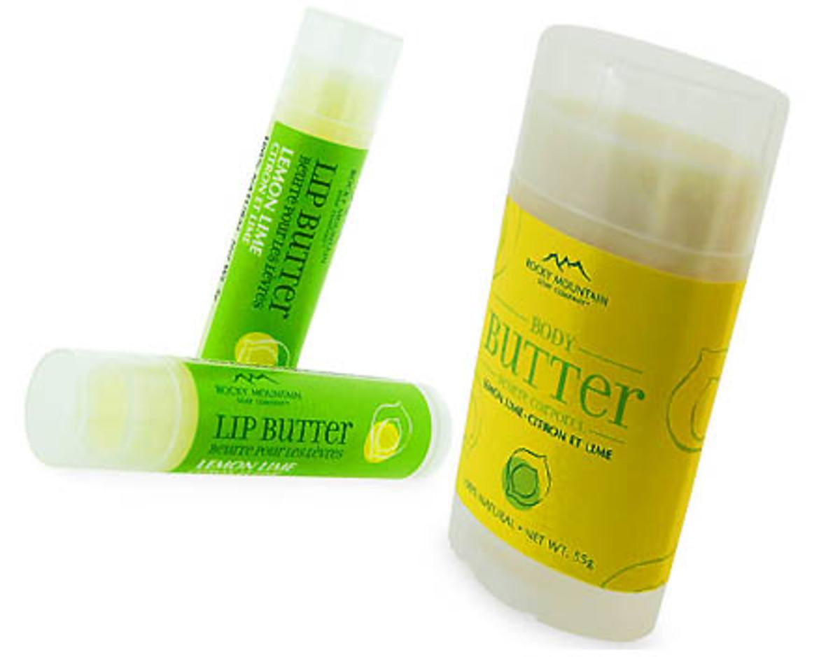 Rocky Mountain Soap Lemon Lime lip butter_body butter