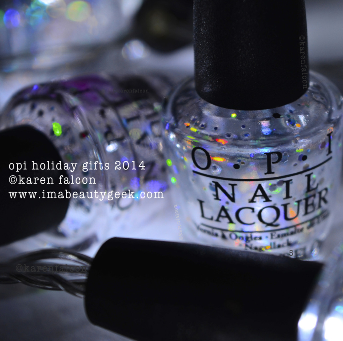 Closeup of the finished OPI mini lights!