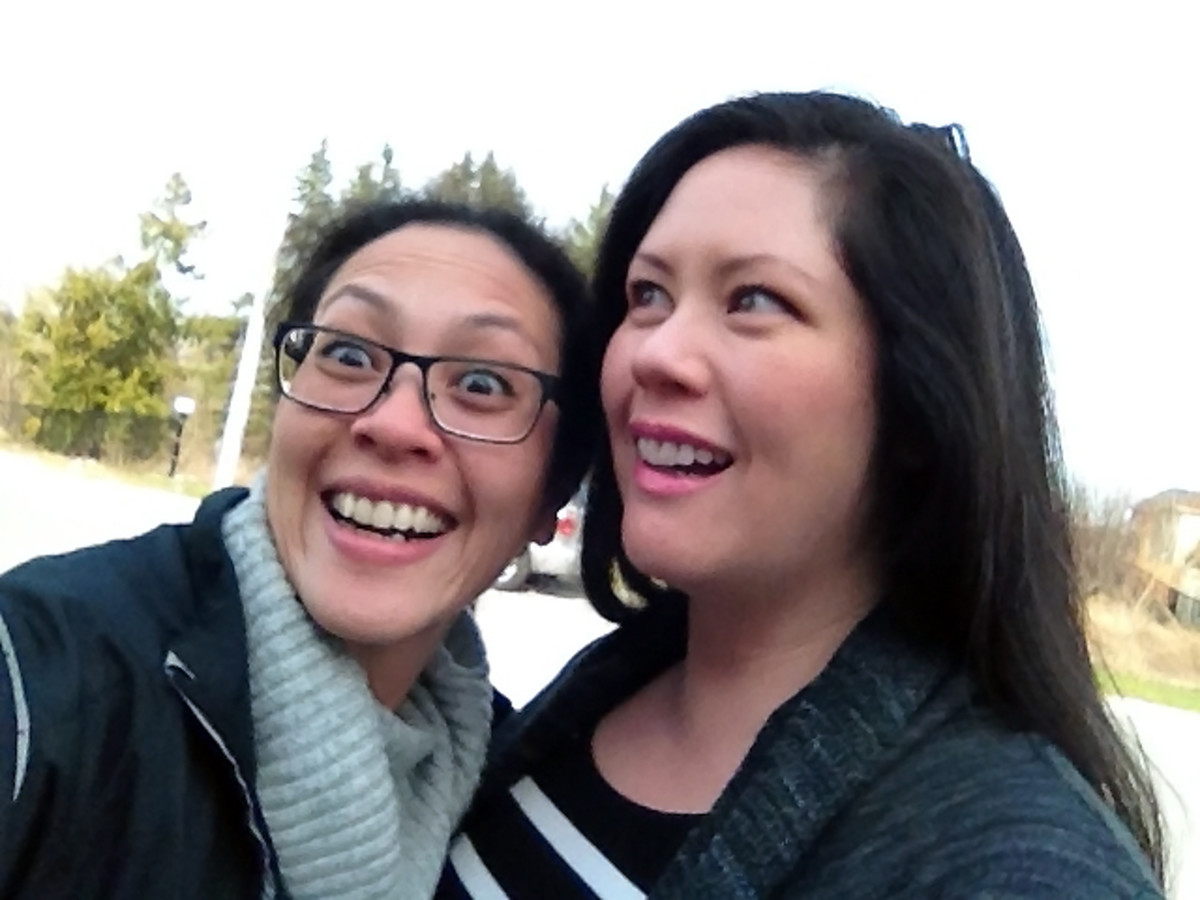 ambush selfie recreation with hilarious seester karen falcon