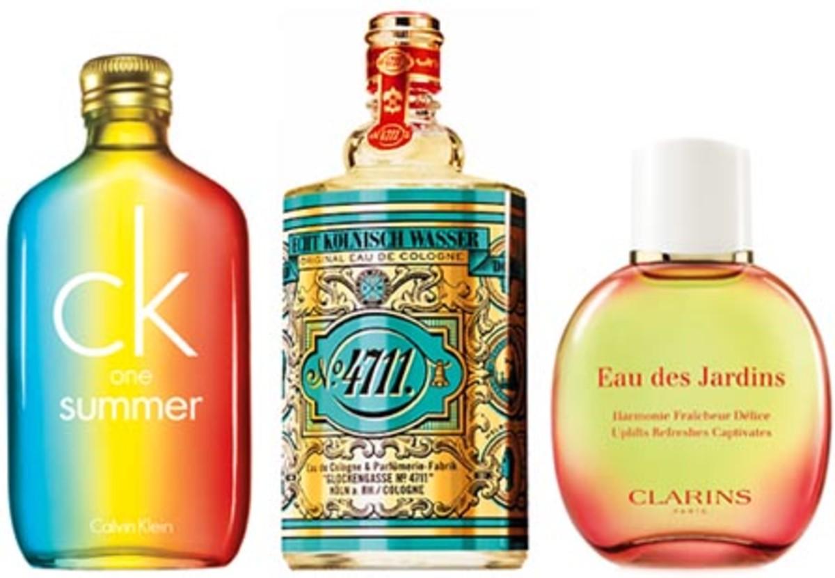 Best summer fragrances: ck one summer, 4711, Clarins Eau des Jardins