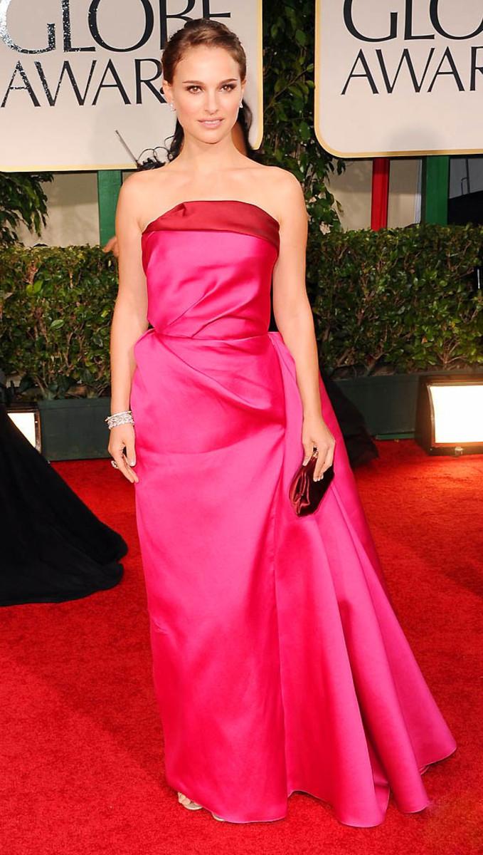 Natalie Portman Golden Globes 2012
