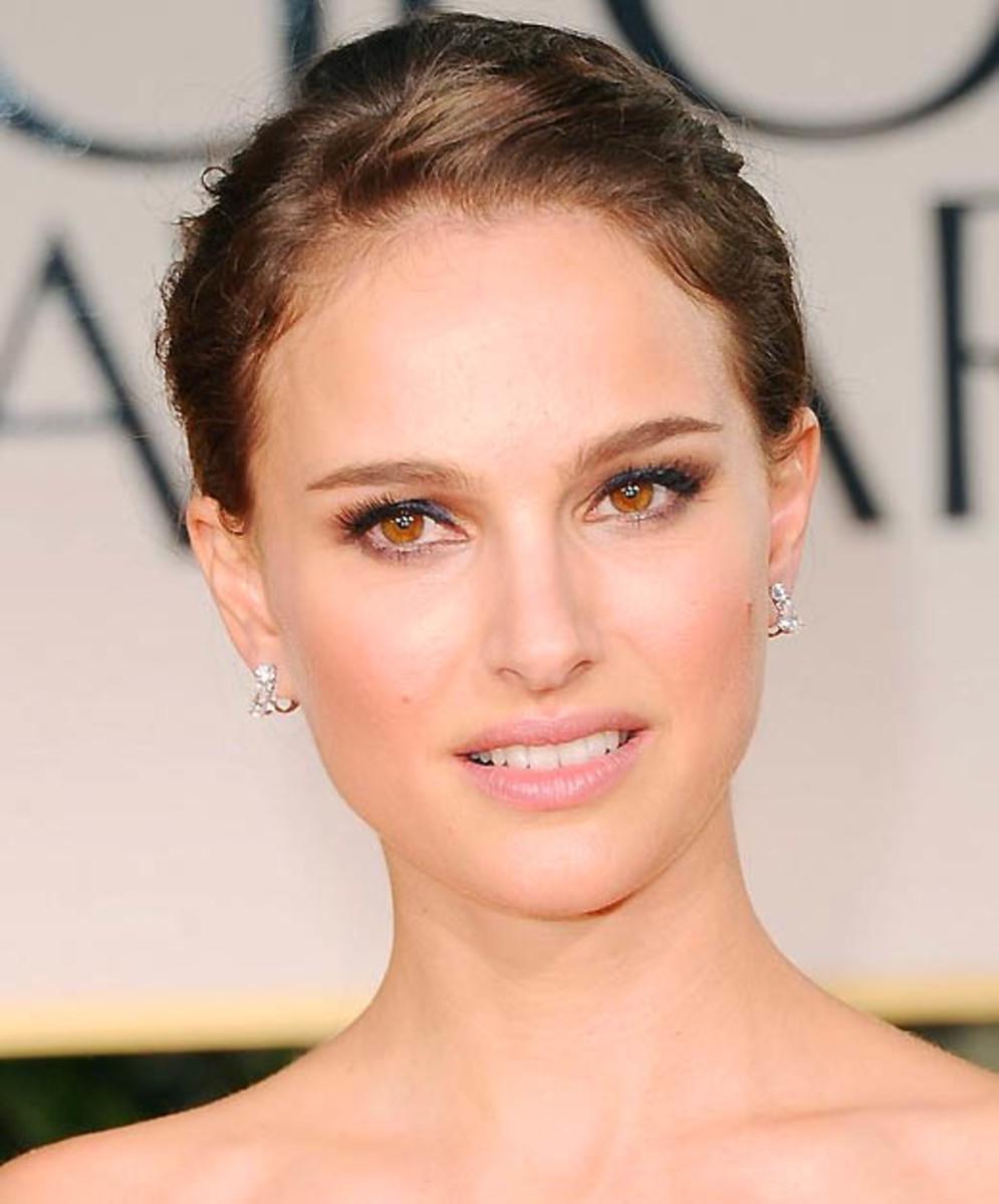 Natalie Portman Golden Globes makeup