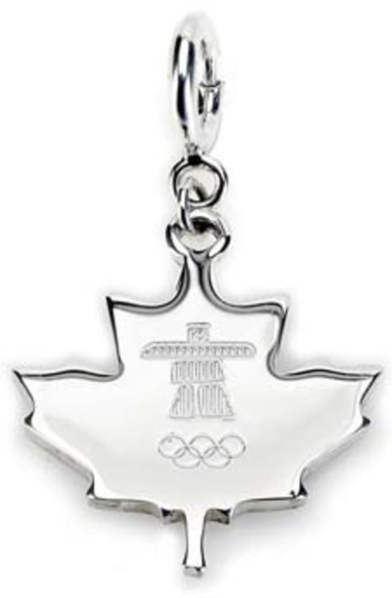 BIRKS Vancouver 2010 Winter Olympics Collection - Maple Leaf Charm (front)