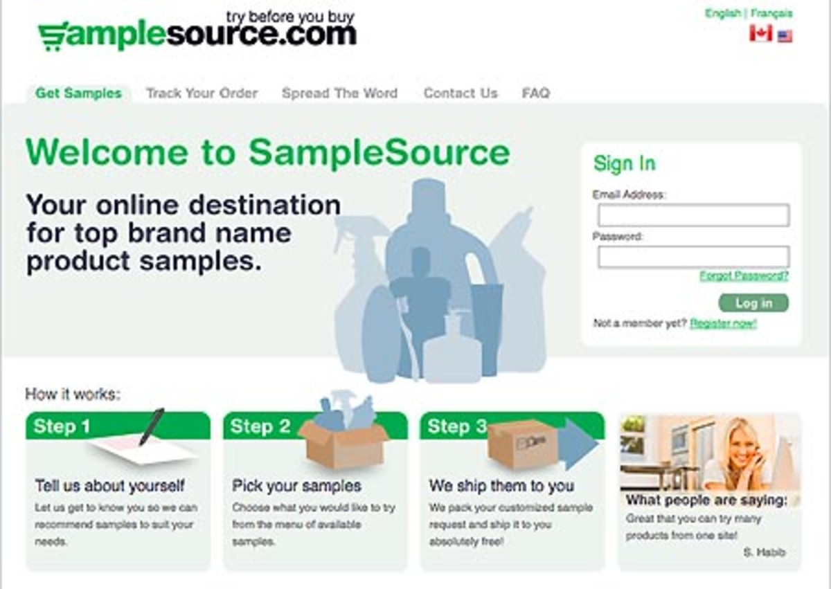Samplesource.com screen grab