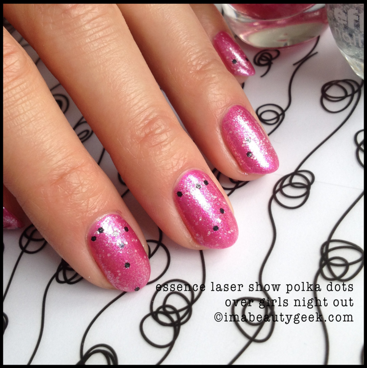 Essence Polish Laser Show Polka Dots over Girls Night Out