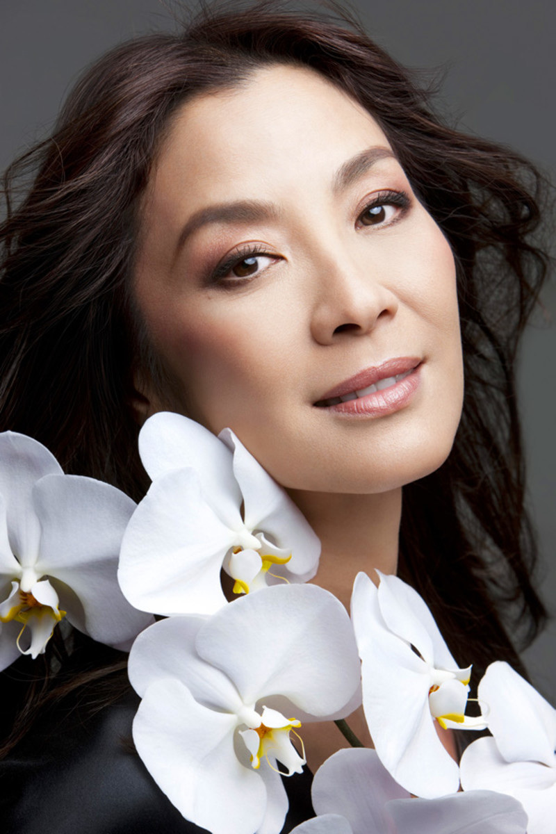 Michelle Yeoh for Guerlain: digitally edited with liner on upper-lid inner rims
