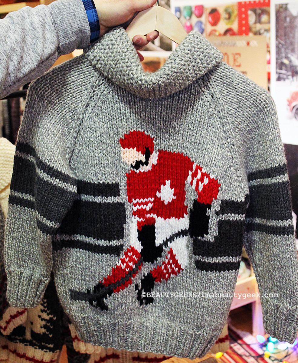 Roots Mary Maxim Rink Sweater for the hockey fan