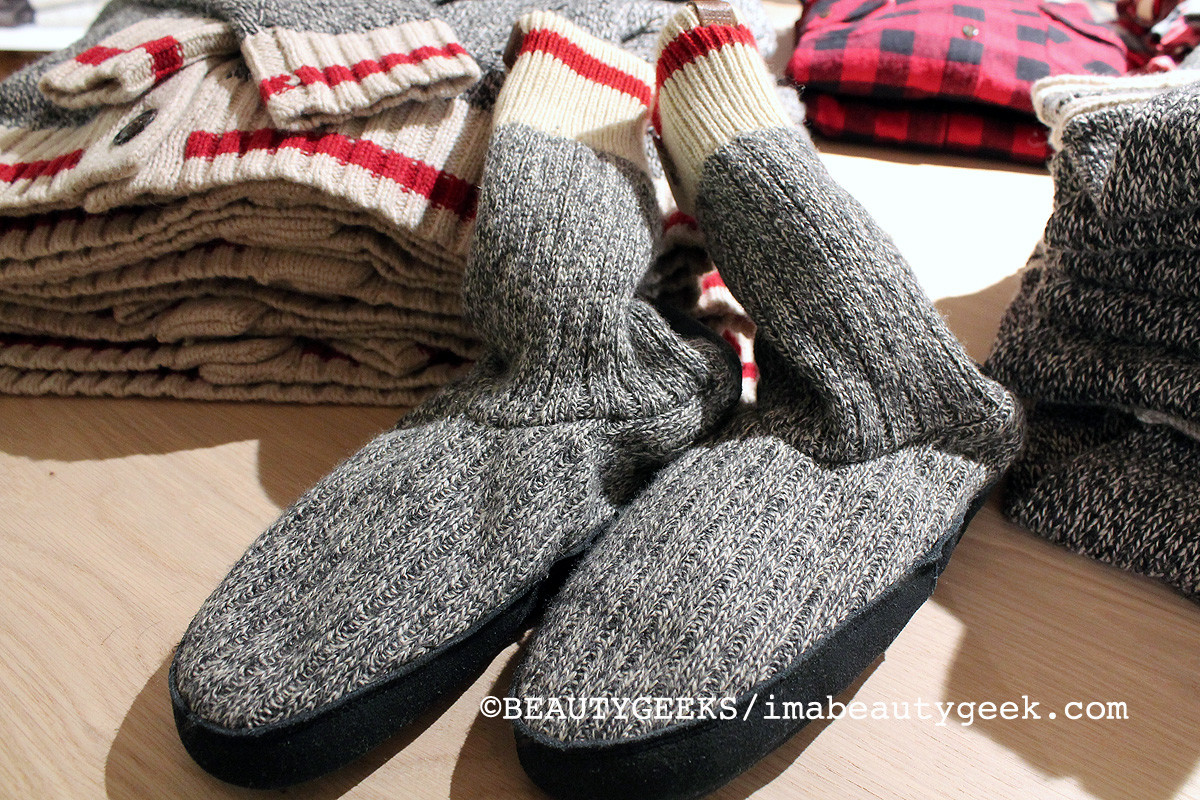 Roots Cabin Sock Slippers -- adore (so comfy and warm)