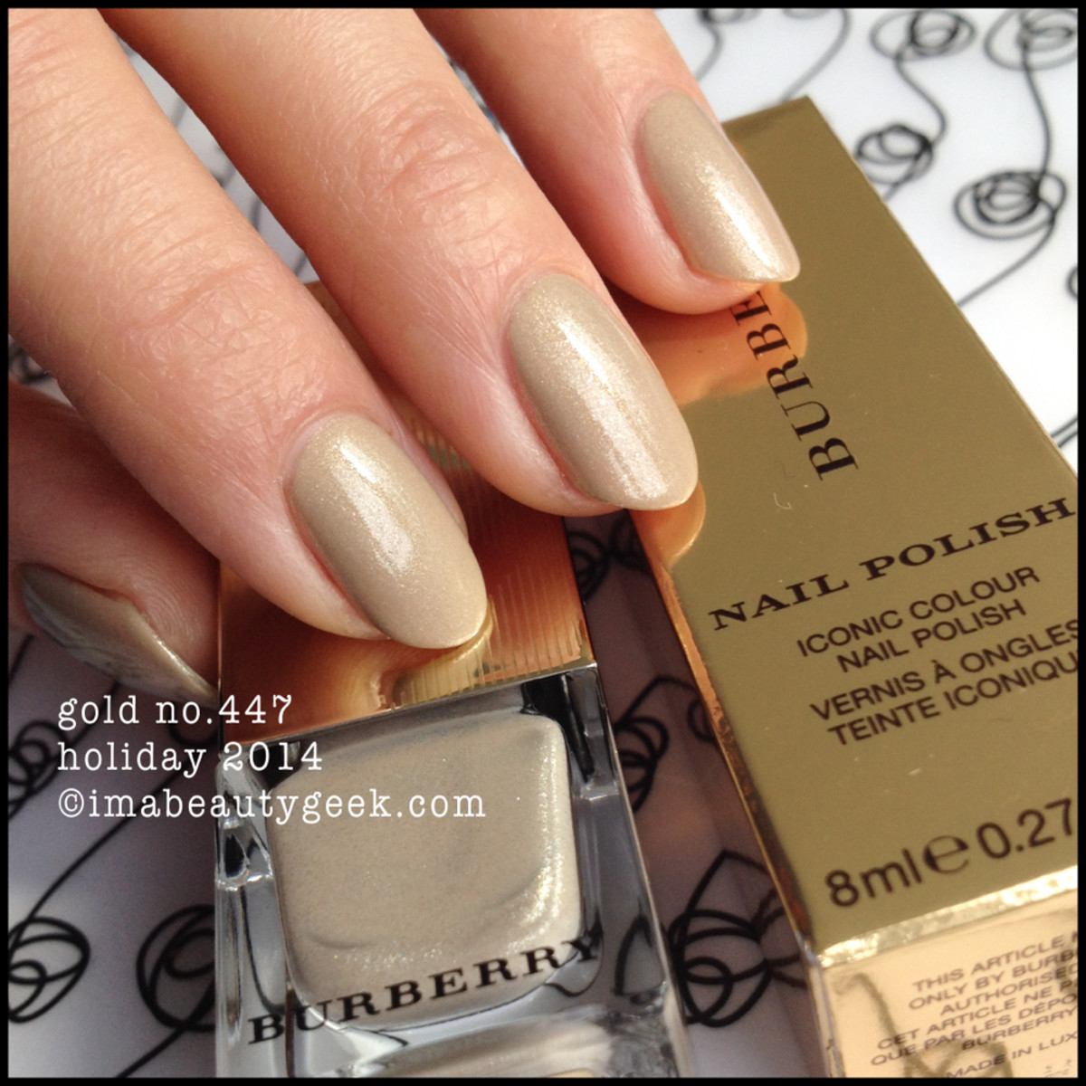 Burberry Gold 447 Nail Polish Holiday 2014