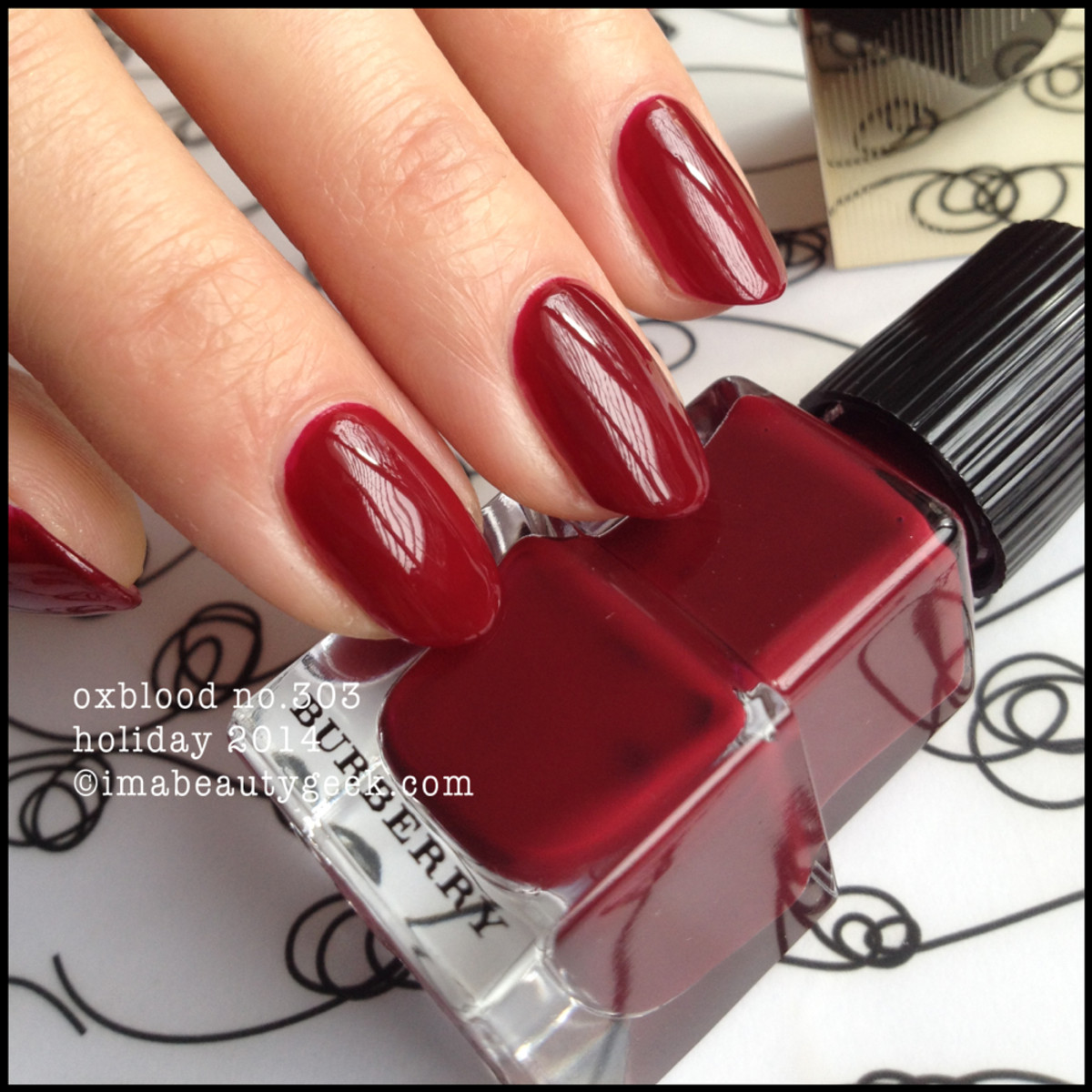 Burberry Oxblood 303 Nail Polish Holiday 2014