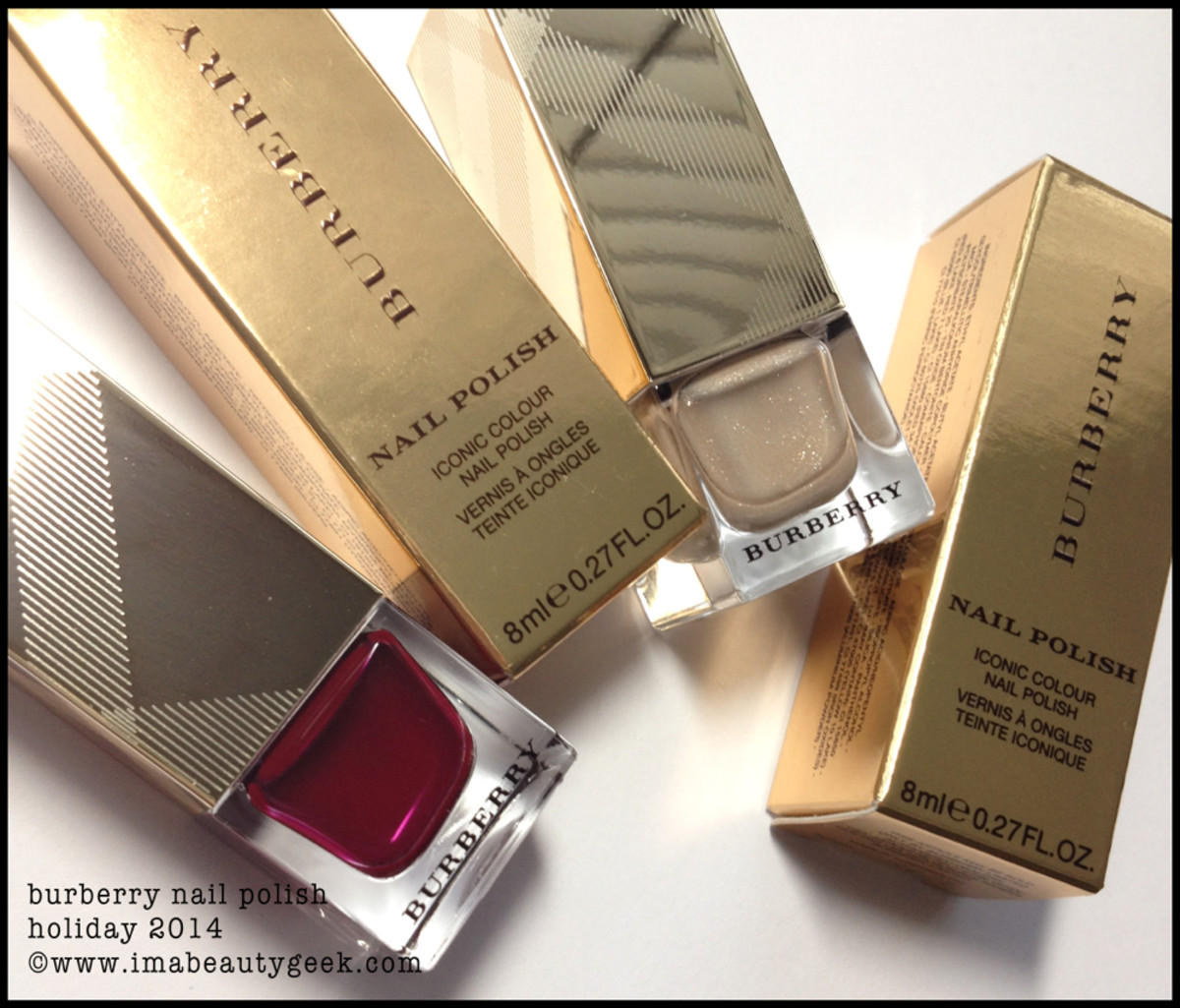 Burberry Nail Polish Holiday 2014 Gold and Oxblood