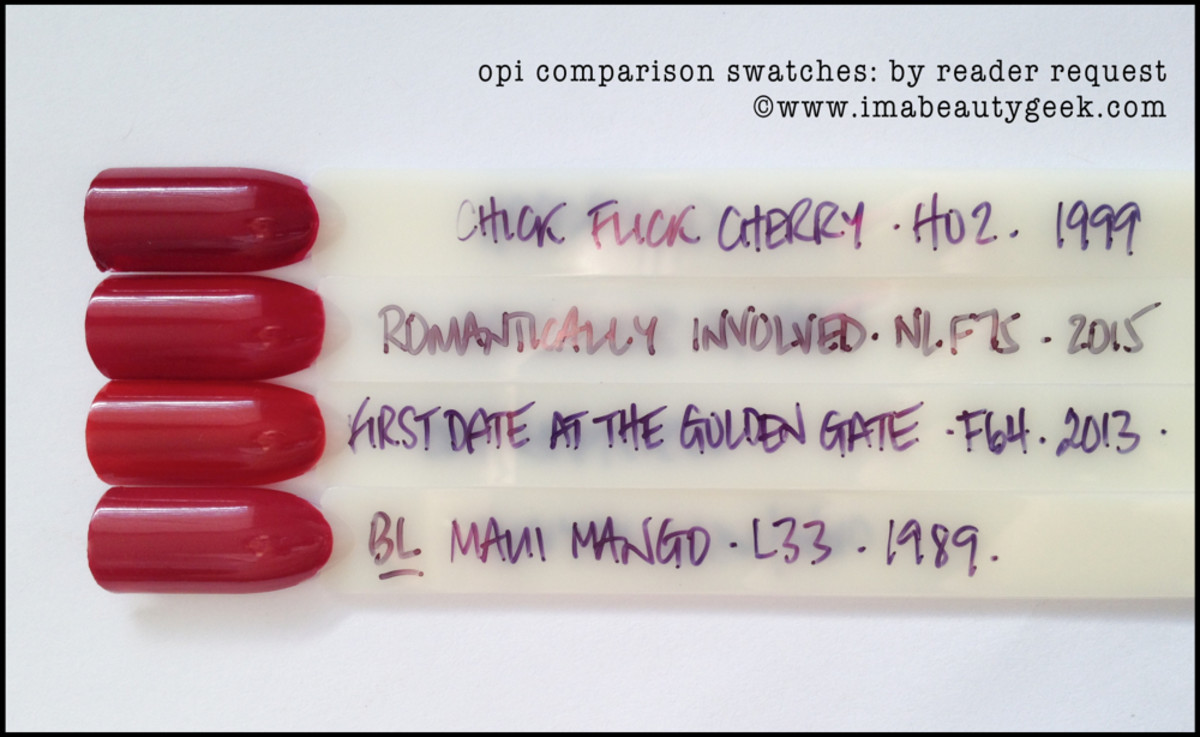 OPI Romantically Involved Comparison