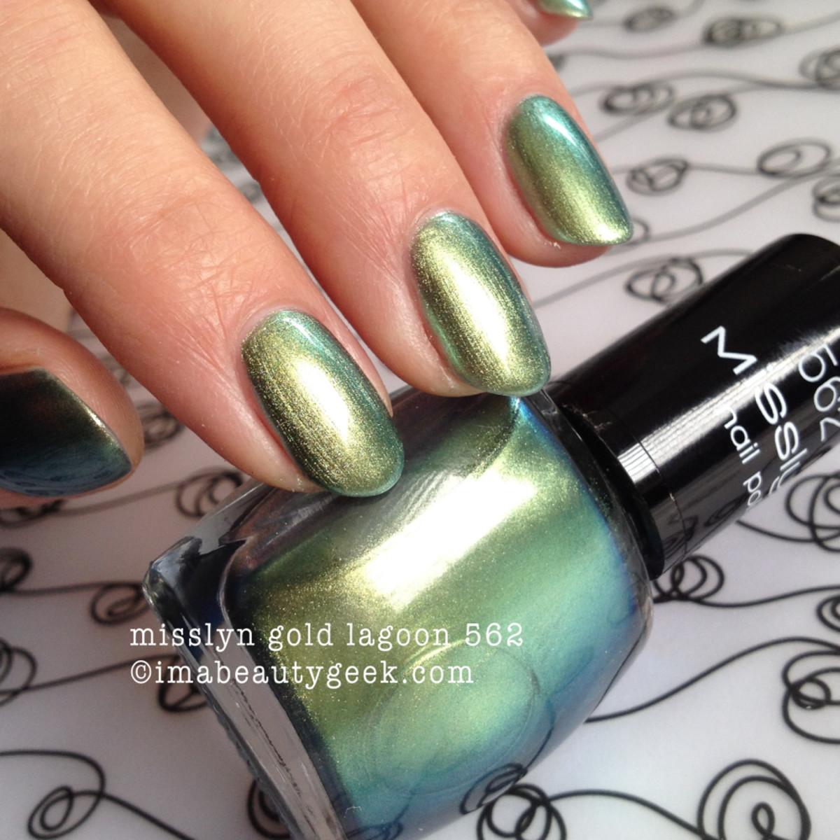misslyn nail polish gold lagoon